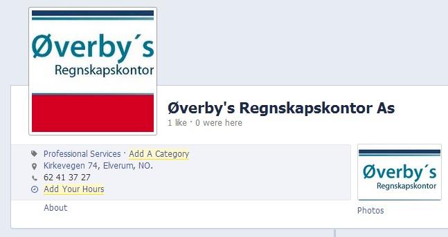 Øverbys på facebook